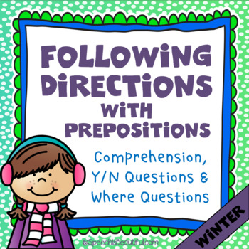 Following Directions with Prepositions - WINTER {English Version}
