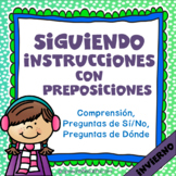 Following Directions with Prepositions - WINTER {Spanish Version}