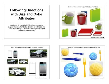 Following Directions with Size and Color Attributes