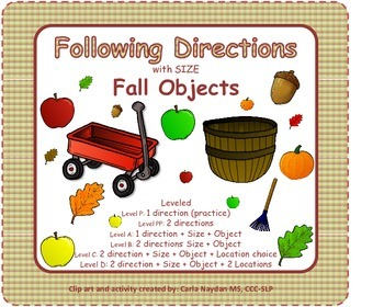 Following Directions with Size and Fall Objects