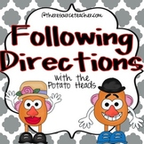 Following Directions with the Potato Heads