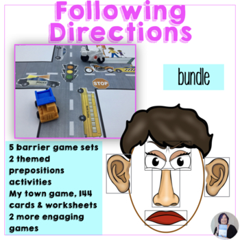 Following & Giving Directions Bundle for speech therapy sp