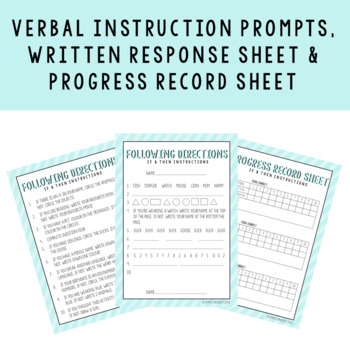Following If/Then Directions Worksheet