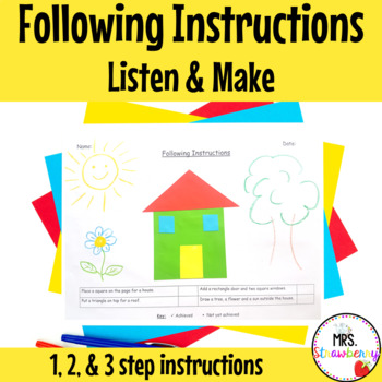 Following Instructions Assessment 2 {Listen and Make}