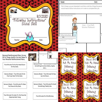 Following Instructions Worksheets Special Needs Education Rescue Dogs'