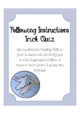 Following Instructions Trick Quiz