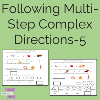 Following Multi-Step, Complex Directions-5