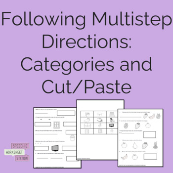 Following Multi-Step Complex Directions Packet-Cut and Paste