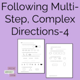 Following Multi-step Complex Directions Packet