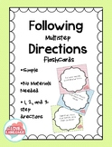 Following Multistep Directions Flashcards