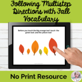 Following Multistep Directions Fall NO PRINT Speech | Dist