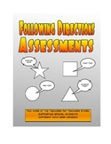 Following Oral Directions Assessments