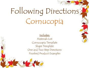 Following Oral Directions- Cornucopia