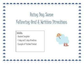 Following Oral Directions- Rainy Day Scene