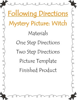 Following Oral Directions- Witch