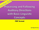 Following Oral Directions with Basic Linguistic Concepts:PDF format