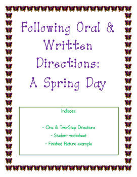 Following Oral & Written Directions:  A Spring Day