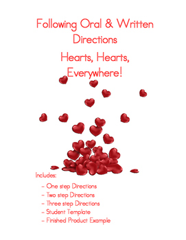Following Oral & Written Directions: Hearts!