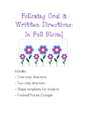 Following Oral & Written Directions: May Flowers
