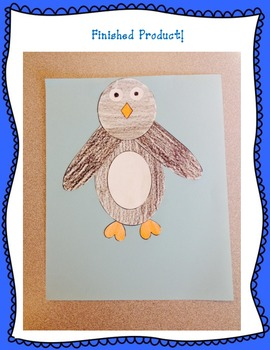 Following Oral & Written Directions- Penguin