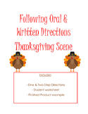 Following Oral & Written Directions: Thanksgiving Scene