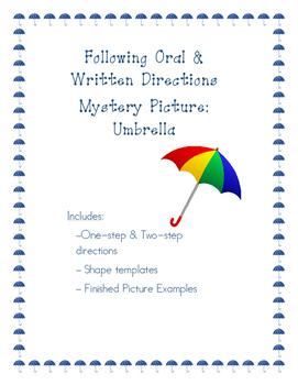 Following Oral & Written Directions: Umbrella