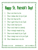 Following Positional Directions - St. Patrick's Day Theme