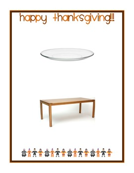 Following Positional Directions - Thanksgiving Theme!