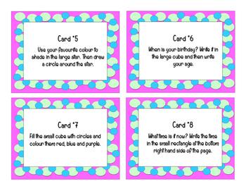 Following Procedures Task Cards