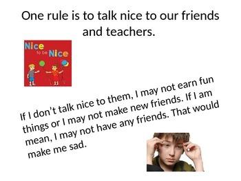 Following Rules at School Social Story