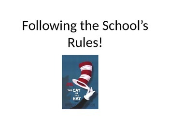Following School Rules Social Story