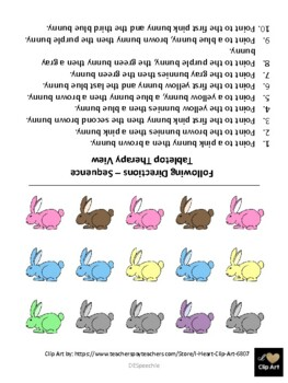 Following Sequential Directions-Bunny Theme