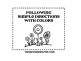 Following Simple Directions with Colors {freebie}