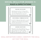Speech Therapy Social Skills for Older Students - Rules & Expectations