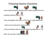 Following Teacher Directions Story