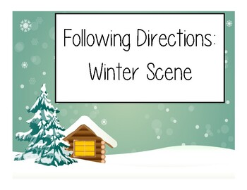 Following Written Directions - Winter Scene Holidays