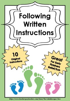 Following Written Instructions - 10 Engaging Activities!