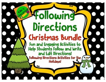 Following and Writing Directions Christmas Bundle