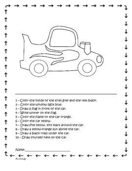 Following directions coloring pages ~ Following directions by drawing and coloring by Miss ...