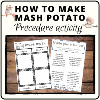 Following directions to make mash potato