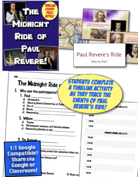Revolution and Paul Revere's Midnight Ride: 3 Activities to Tell the Real Story!