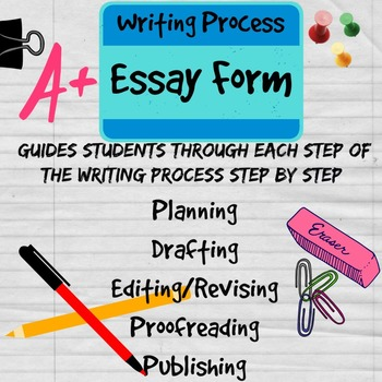 Following The Writing Process Essay Form By Mskcpotter  Tpt Following The Writing Process Essay Form Essay Science also Modest Proposal Essay  Academic Writing Services Hgse