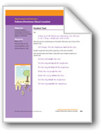 Follows Directions About Location (Math Assessment PreK)