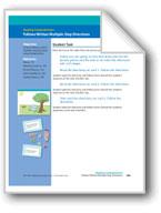 Follows Written Multiple-Step Directions (assessment)