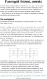 Fonologisk fototest: instruks, transskription, foneminvent