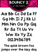 Fonts: Bouncy - Personal and Commercial Use