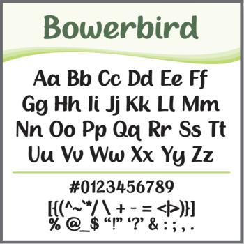 Font: Bowerbird (True Type Font)