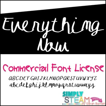 Font: Bubbles Everything Now Commercial Font License