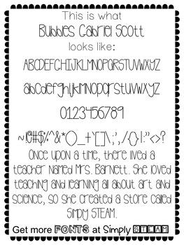 Font: Bubbles Gabriel Scott Single Font Commercial License