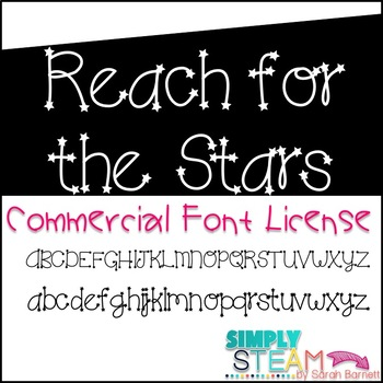 Font: Bubbles Reach for the Stars Commercial Font License